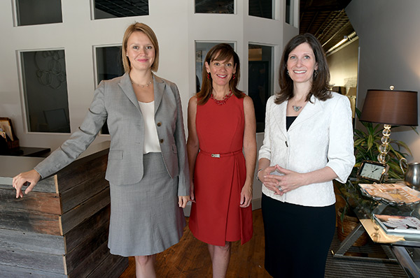 group photo:  Sarah Prescott, Jennifer Salvatore, Julie Porter